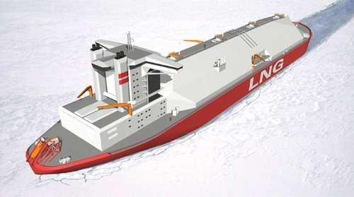 极地冷区lng船型设计图