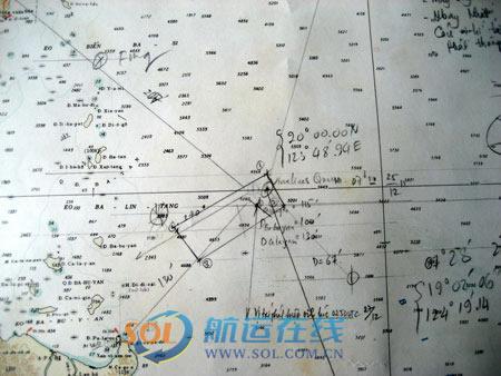 船舶失踪经纬度