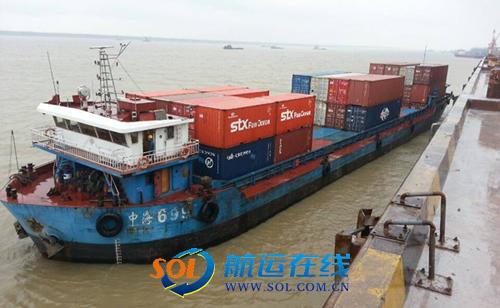 池州港至上海港集装箱直达班轮开通(图)