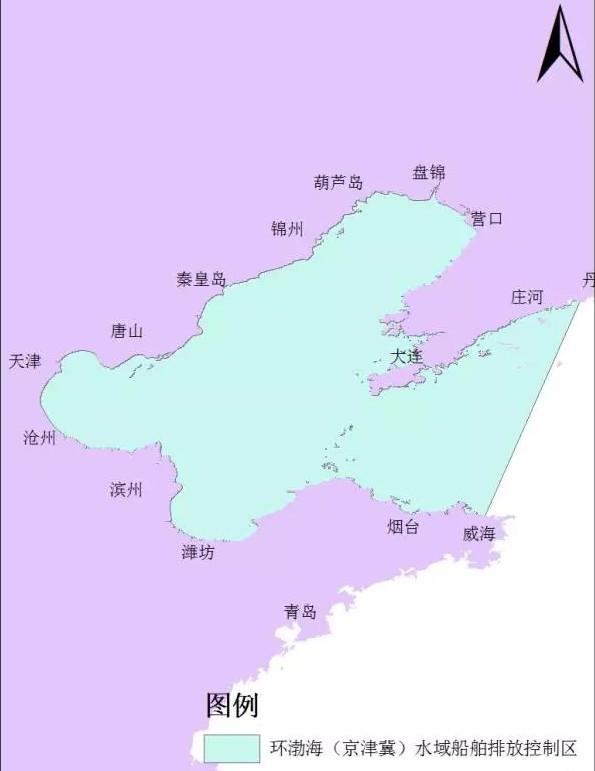 葫芦岛,秦皇岛,唐山,天津,沧州,滨州,东营,潍坊,烟台13个城市行政管辖