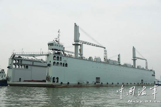 原文配图:浮船坞外观。