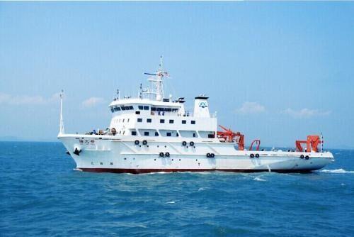 """资料图:中国海洋大学""""海大""""号调查船"""