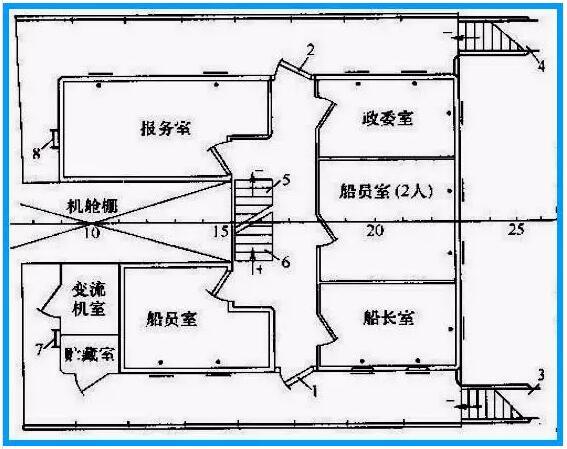 船舶舱室结构图